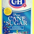 C&H 100% PURE CANE SUGAR POWDERED 1 POUND - NO PRESERVATIVES OR TRANS FATS