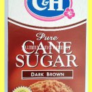 C&H 100% PURE CANE SUGAR DARK BROWN 1 POUND - USA SELLER