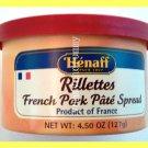 Henaff Rillettes French Pork Pate Spread - USA Seller