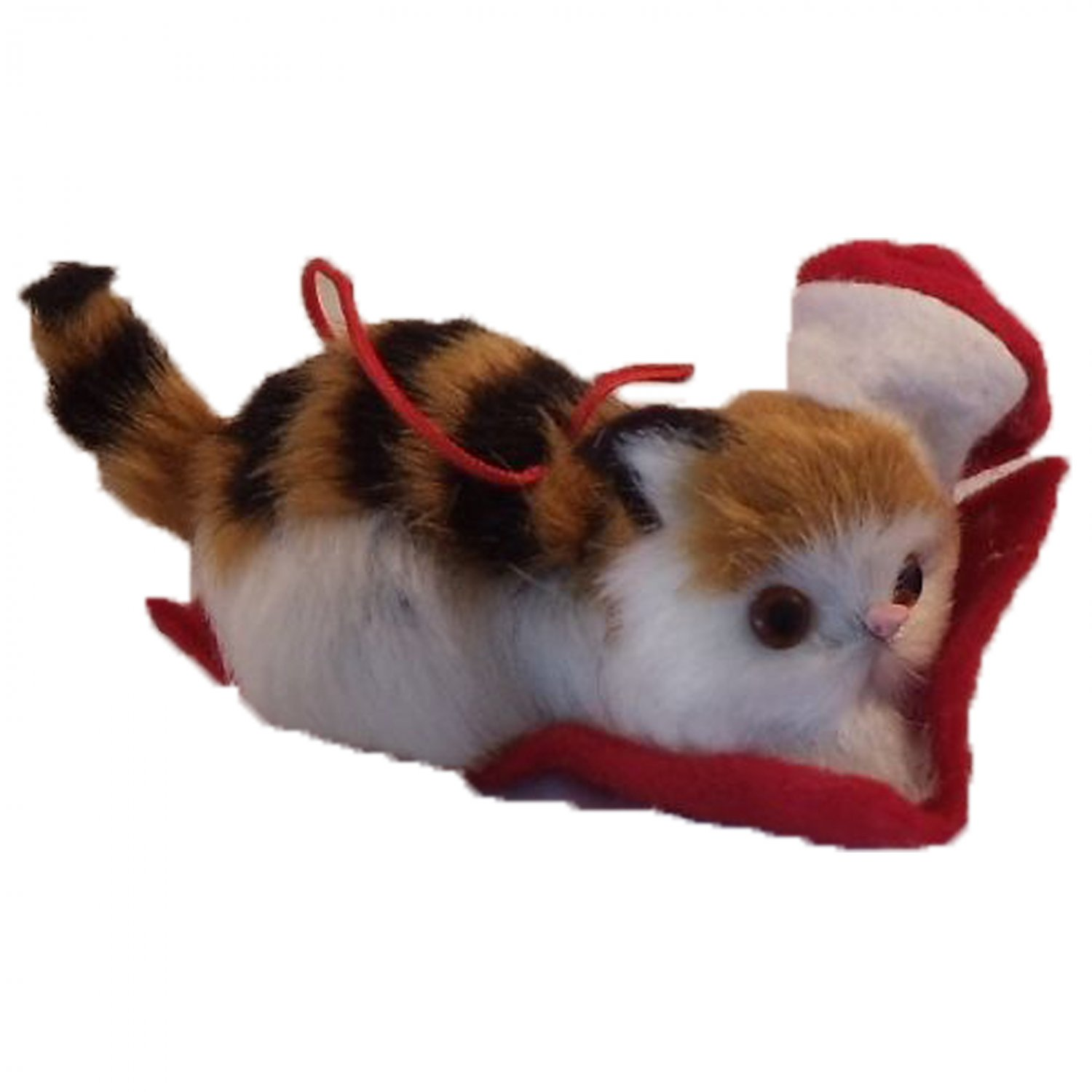 Hallmark Purrfect Kitten In Santa Hat Hanging Holiday Ornament Brown Cat