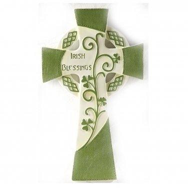 "Irish Blessing Celtic Wall Cross 10"" Height"