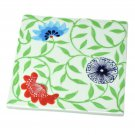 Ceramic Exotic Flower Design Trivet Hot Pad Hand Painted Kitchenware