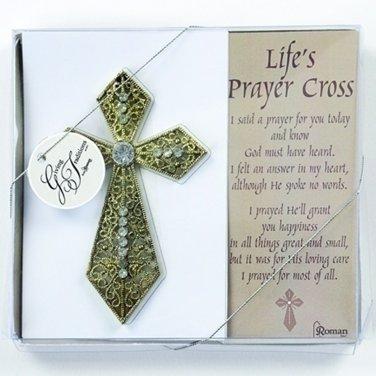 """Life's Prayer Cross 4"""" Gift Innovations Religious Inspiration Crosses Comfort"""
