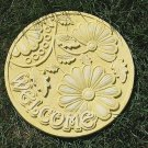 Welcome Garden Stepping Stone Resin Mold Outdoor Patio Decor