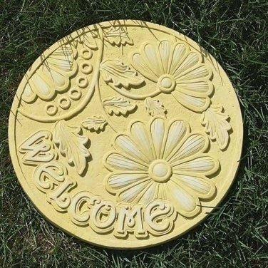 Welcome Garden Stepping Stone Resin Mold Outdoor Patio Decor