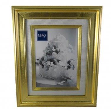 Gold Leaf 4x6 Photo Frame Wall Hanging or Shelf Sitter Mikasa 9x11