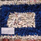 Blue and White Floor Mat