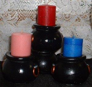 Cauldron Candle Holder