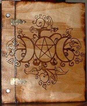 Fancy Triple Moon Book of Shadows