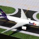 Gemini Jets Fedex 777F 1/400 Diecast Model w Chrome Stand