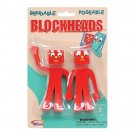 Blockheads 5 inch tall Bendable & Poseable Figures
