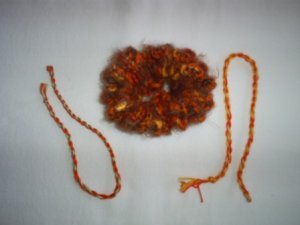 Soft Fuzzy Scrunchi & Two Friendship Bracelets, Hand made, New