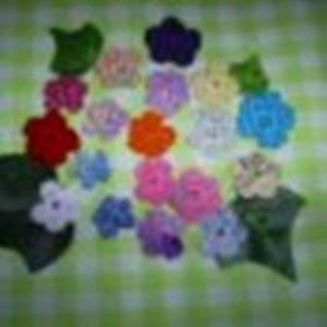 Twenty Hand crochet Mini  Flowers, New