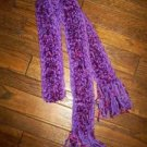 Varigated Purple Hand Crochet Scarf, New