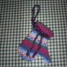 Hand sewn Wool Mitten Ornament, New