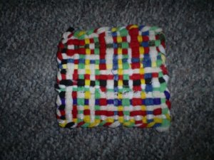 Hand crafted loom woven Hot Pan Holder, Assorted Colors