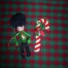 Two Vintage Christmas Ornaments, Handmade