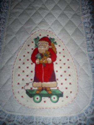 Christmas Santa Table Runner, New, Handmade