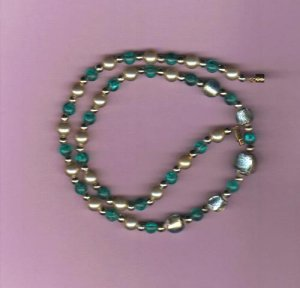 Handmade 18 inch Beaded Necklace, Vintage Beads