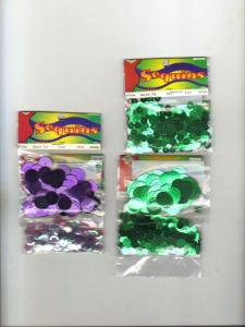 Sequins, Five Assorted Colors and Sizes, New in Packages
