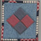 Patchwork & Jean Hot Pad Pot Holder, New, Handmade