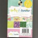 Scrapbooking Spring & Summer Matstack Paper Pack 4.5 X 6.5, New