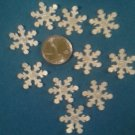 "Package of over fifty 3/4"" Silver/ Glitter paper Snowflakes, New"