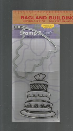 Hero Arts Stamp & Die Cut Set, Wedding Cake Set, New