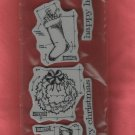 Set of 6 Rubber Stamps, Jim Holtz Collection, Happy Holidays Blueprints,New