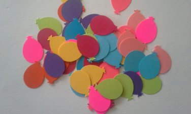Package of over fifty Colorful Balloon Embellishments, New