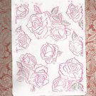 Lifestyle Crafts Embossing Folder, Roses, Gently Used