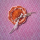 Hand Crochet Doll Hat in Orange and Yellow, New