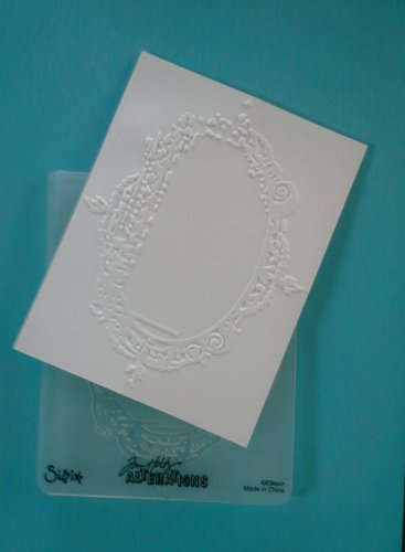 Sizzix Embossing Folder, Scroll Border, Gently Used