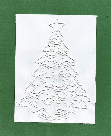 Darice Embossing Folder, Holiday Christmas Tree, Gently Used