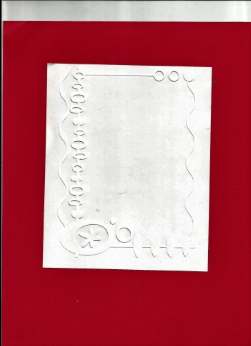 Cuttlebug Embossing Folder, 5X7, Christmas Holiday Ornament Border