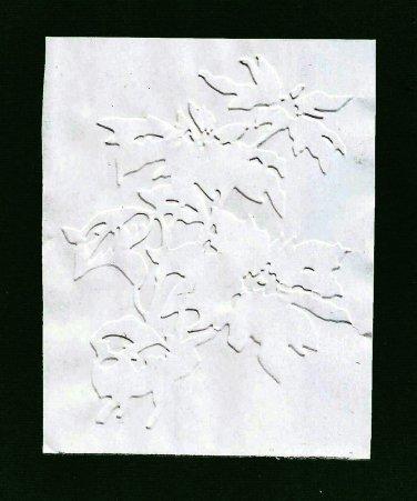 Sizzix Embossing Folder, Pointsettia, Gently Used