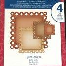 Spellbinders Nestabilities, S4-3035 New, 4 Die templates, Eyelet Squares