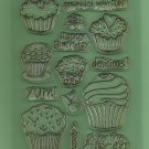 Set of  Acrylic Stamps, cupcakes