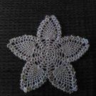 "Ecru cotton crochet thread Hand Crochet Pineapple Doily, 8"", New"