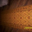 PRIMITIVE FLOORCLOTH FLOOR CLOTH  AREA RUG FOLKART RUG