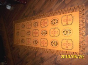 HISTORICAL FLOOR DESIGN FLOORCLOTH, FLOOR CLOTH RUNNER