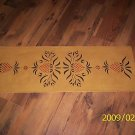 PRIMITIVE PINEAPPLE TABLE RUNNER, FLOORCLOTH HP