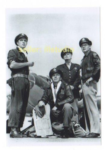 ROBERT LANSING & JOHN LARKIN 12 O'clock High RARE 4x6 PHOTO MINT CONDITION #38