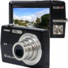Casio Exilim EX-Z600BK 6MP Digital Camera with 3x Optical Anti-Shake Zoom (Black) Reconditioned