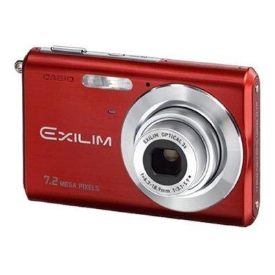 Casio Exilim EX-Z70RD Red 7.2 Megapixel Digital Camera
