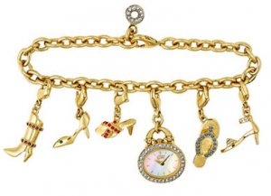 Citizen Ladies Eco-Drive Silhouette Shoe Charm Bracelet Watch EG2442-60D