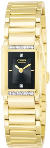 Citizen Ladies Gold Tone Eco-Drive Diamond Watch EW9342-54E