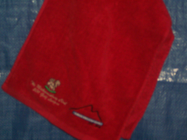 Pro Towel 100% Cotton Club Logo-Red