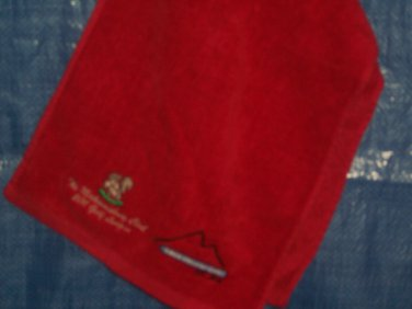 Pro Towel 100% Cotton Club Logo-Red