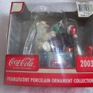 Coca Cola Coke 2003 Christmas Polar Bear Pearlescent Ornament  - NIB - FREE SHIPPING
